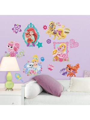 35 Stickers Princesse Disney Palace Pets Repositionnables