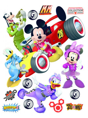 Stickers géant Mickey Racing Cars Disney 85x65 CM