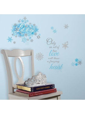 "Stickers scintillants phrase La Reine des Neiges ""Let it Go"" Disney Frozen"