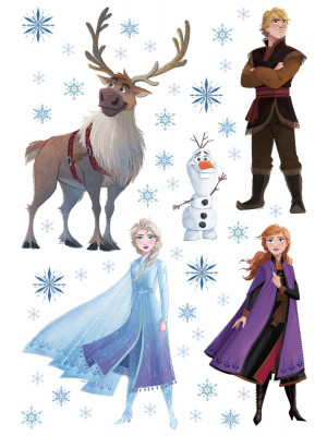 Stickers repositionnable Disney - La Reine des Neiges 2 - modèle dessin - 42.5CM x 65 CM