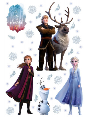 Stickers repositionnable Disney - La Reine des Neiges 2 - modèle In my element - 42.5CM x 65 CM