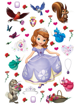 Stickers repositionnables Disney - Pincesse Sofia - 42.5CM x 65 CM