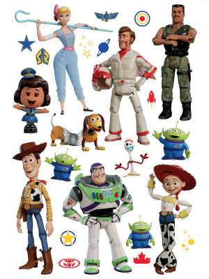 Stickers repositionnables Disney - Toy Story 4 - 42.5CM x 65 CM