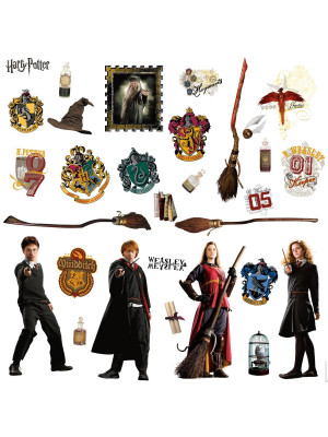 Stickers repositionnables Harry Potter 25,4CM X 45,7CM