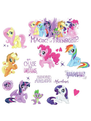 Stickers repositionnables Mon petit poney Hasbro 22,9CM X 44,1CM