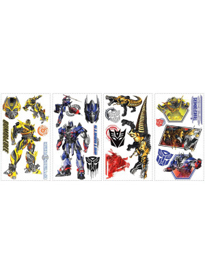 Stickers repositionnables Transformers 4 l'âge de l'extinction Hasbro 25,4CM X 45,7CM