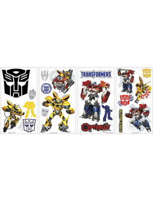 Stickers repositionnables Transformers Hasbro 25,4CM X 45,7CM
