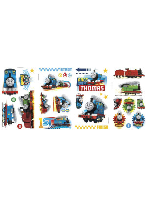 Stickers repositionnables Thomas et ses amis La course 25,4CM X 45,7CM