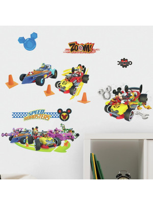19 Stickers Roadster Team Mickey Mouse
