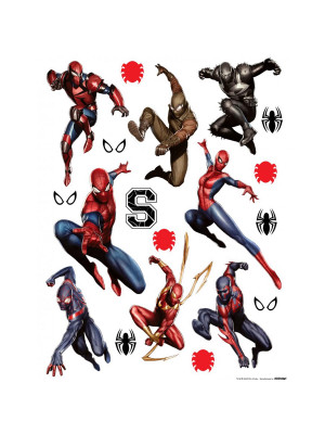 Stickers géant costume Spiderman Marvel