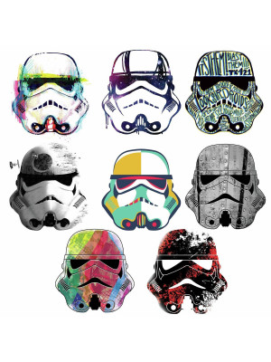 Stickers repositionnables Star Wars Casques de Stormtrooper 21,9CM X 92,7CM