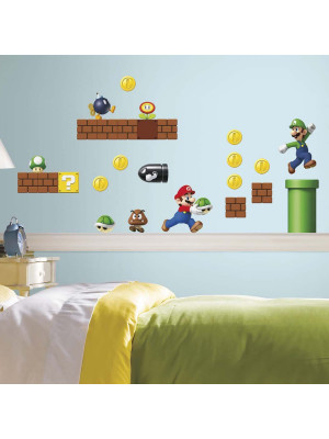 45 Stickers Mario Bros Nintendo