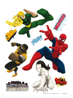 Stickers géant Team Spiderman Marvel