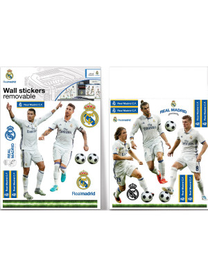 Stickers Top players Real Madrid 16cm