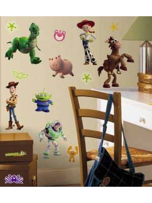34 Stickers Toy Story 3 Disney