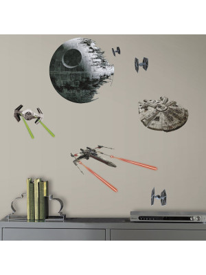 20 Stickers Vaisseaux Empire et Rebel Star Wars