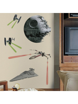 17 Stickers Vaisseaux Empire et Rebel Star Wars