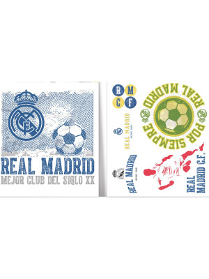 Stickers Logos vintage Real Madrid 21X29 cm