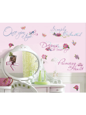 Stickers phrase Disney chambre Princesse