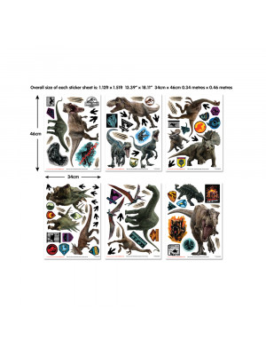 Stickers Dinosaures Jurassic World