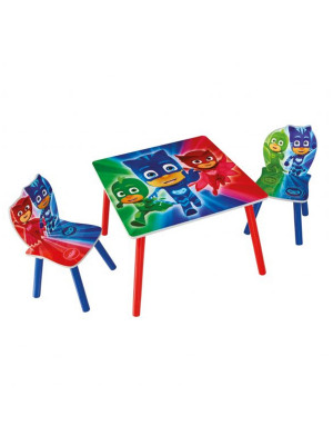 Ensemble table et 2 chaises Pyjamasques
