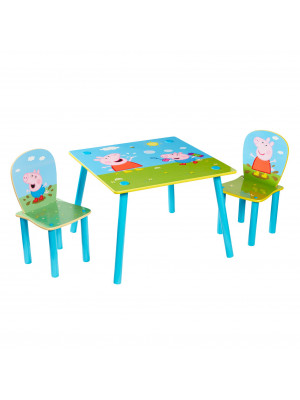 Ensemble table et 2 chaises Peppa Pig