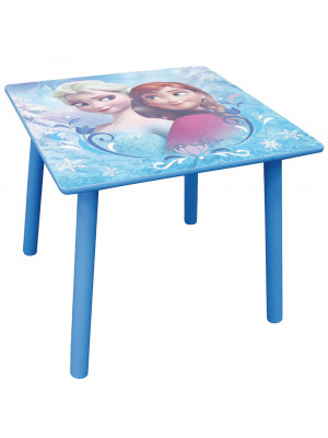 Table carrée La Reine des Neiges bois Disney