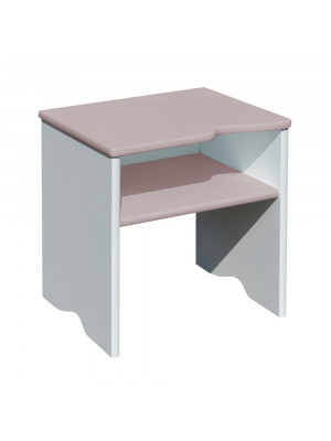 Tabouret et Table de chevet 2 en 1 Taupe 115 x 50 x 35 cm
