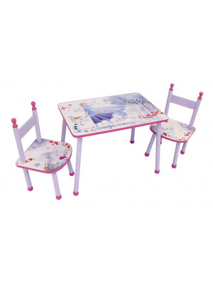 Ensemble table 2 chaises La Reine des Neiges 2 Disney Elsa et Olaf violet