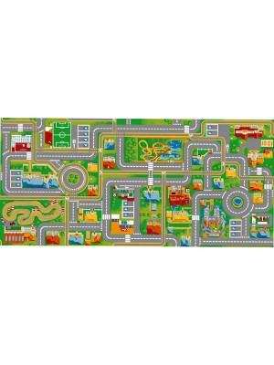 Tapis circuit voiture Play City-Tapis : 95 x 133 cm