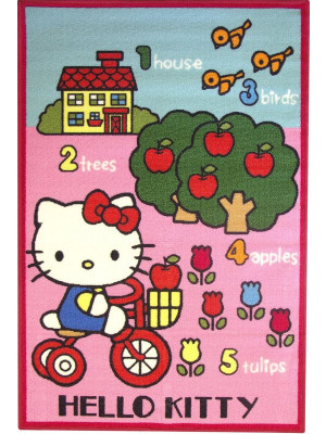 Tapis Hello Kitty rose Jardin