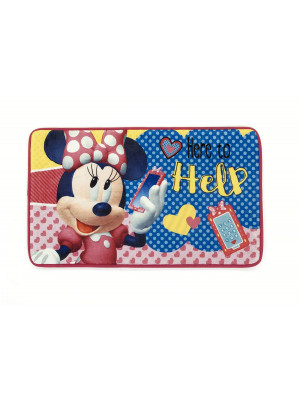 Tapis Minnie Mouse rose 45 x 75 cm