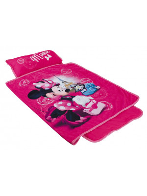 Tapis de sieste rose Minnie de Disney facile à transporter