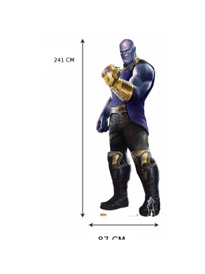 Figurine en carton Géante Thanos The Mad Titan Avengers: Infinity War H 241 CM