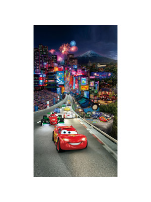 Voilage taille L Cars Flash Mc Queen la parade de Disney 140CM X 245CM