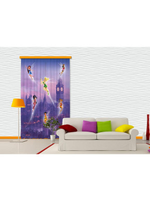 Voilage Fée Clochette à Londres Disney Fairies 140x245 cm