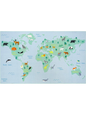 Tapis - World Map - 120 cm x200 cm