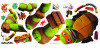 Stickers géant Michelangelo Tortues Ninja Nickelodeon H 90 CM