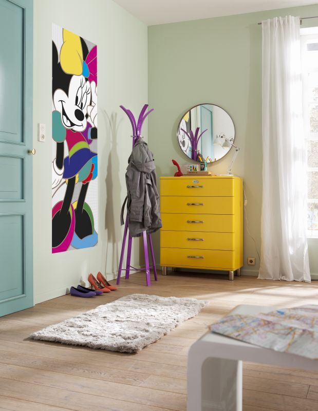 Poster porte Minnie Mouse couleurs Disney