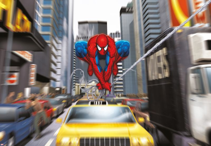 Poster géant Spiderman Rush Hour
