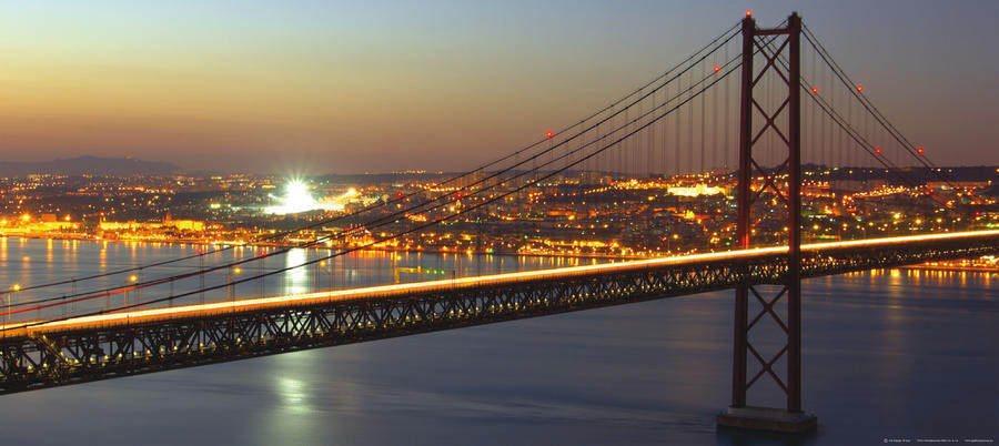 25 de abril bridge, photo murale intissée, 202 x 90 cm, 1 part