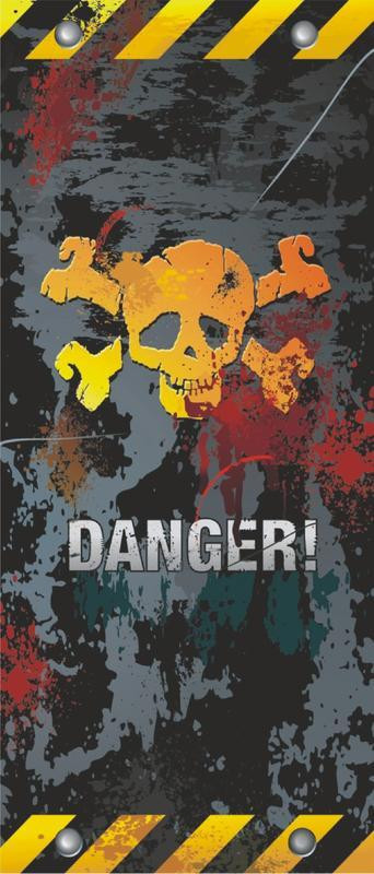 Danger, intissé photo mural, 90 x 202 cm, 1 part