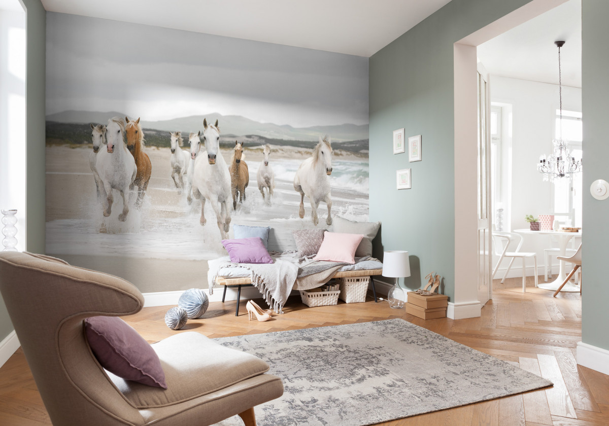 White Horses Photo murale - 368 x 254 cm
