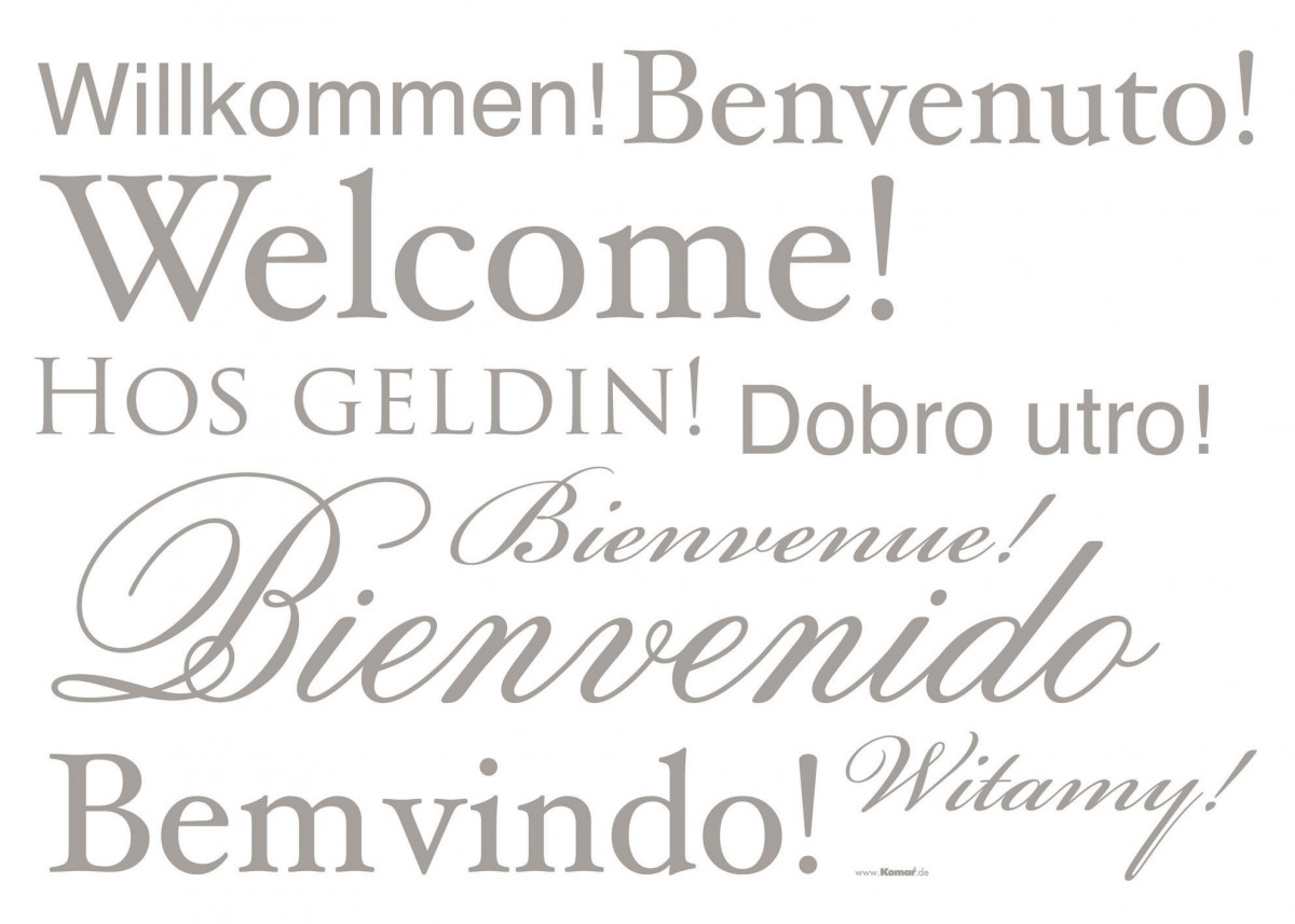 Welcome, Sticker murale - 50x70 cm