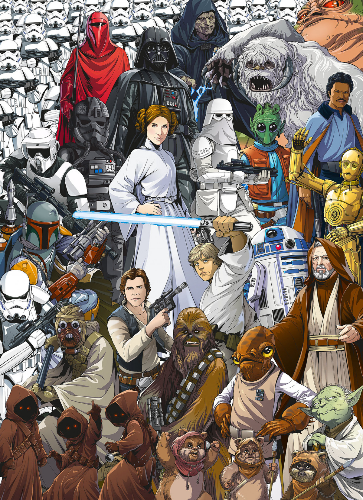 Papier Peint Star Wars Classsic cartoon 254X184 CM