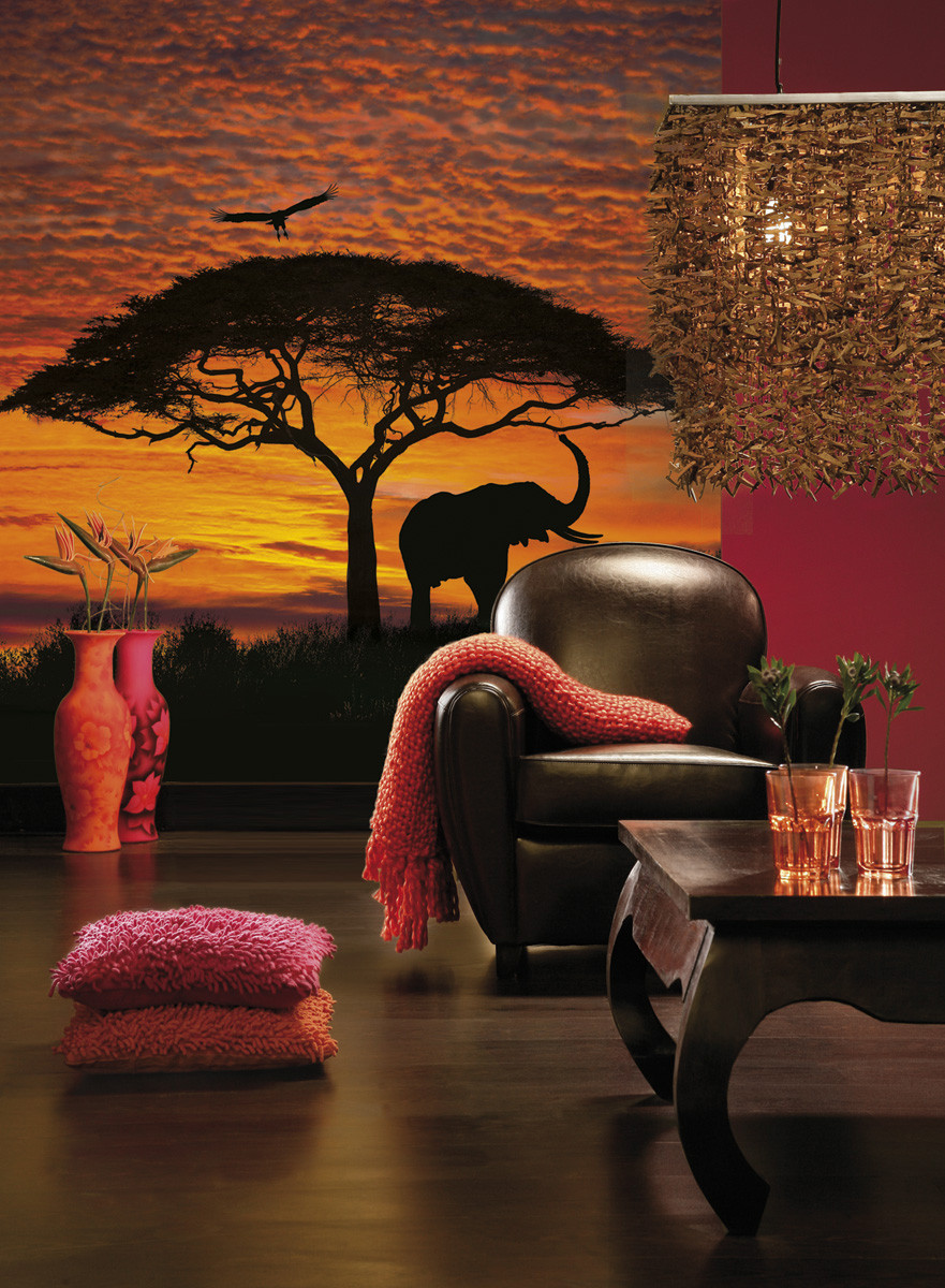 African Sunset Photo murale - 194 x 270 cm