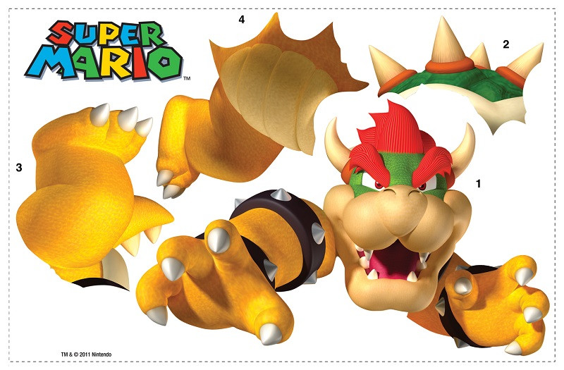 Stickers Bowser Super Mario Kart Nintendo