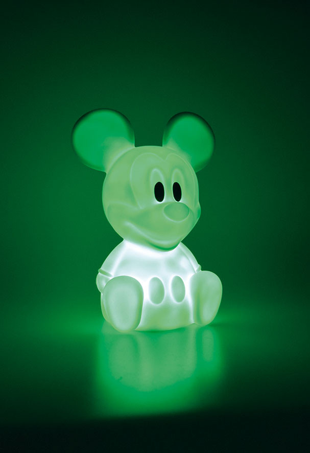 Veilleuse LED vert Mickey Mouse 7 couleurs Disney