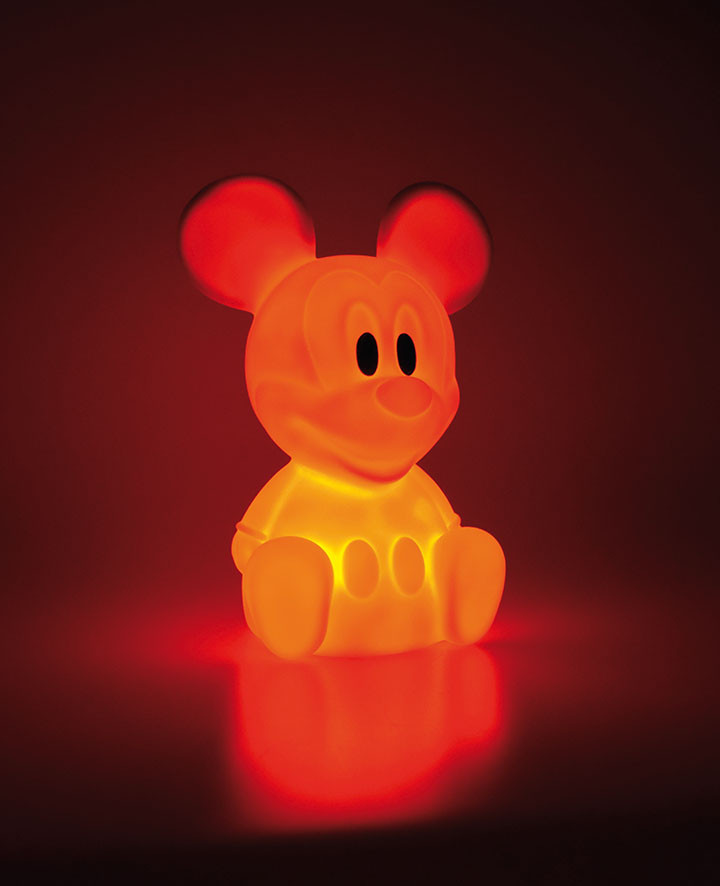 Veilleuse LED orange Mickey Mouse 7 couleurs Disney