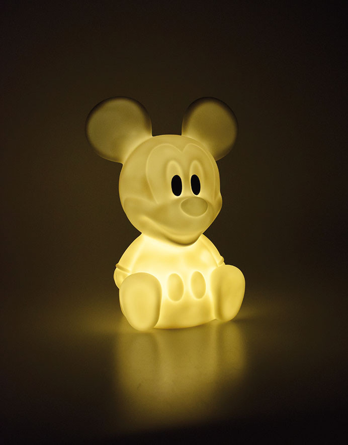 Veilleuse LED jaune Mickey Mouse 7 couleurs Disney